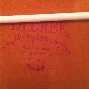 Decree Tops - Decree red and orange tank top